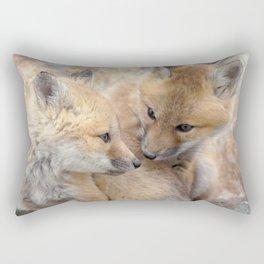 Watercolor Fox, Red Fox 51, Union Reservoir, Boulder Rectangular Pillow
