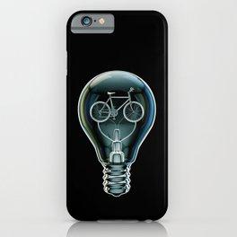 Dark Bicycle Bulb iPhone Case