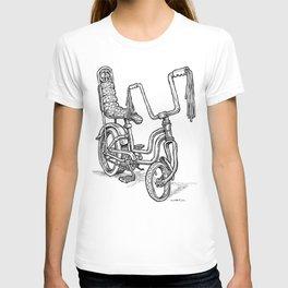 'Slicks R 4 Chicks' - Girls Mod Stingray Muscle Bike Cartoon Retro Bicycle T-shirt