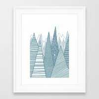 mountains Framed Art Prints featuring Mountains by Anita Ivancenko