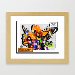 BeySuper Framed Art Print