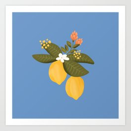 Lemon tree throw pillow Art Print