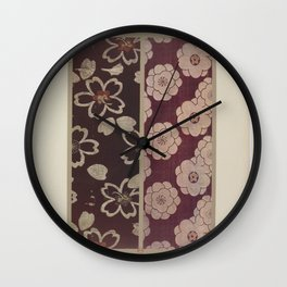 Verneuil - Japanese paper and fabric designs (1913) - 24: Seedlings and stylised flowers Wall Clock