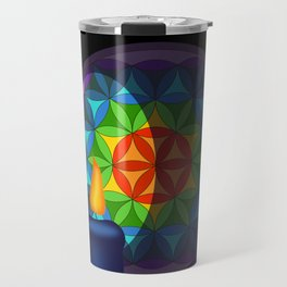 Flower of life in the candlelight Travel Mug