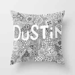 Dustin Doodle Throw Pillow