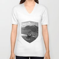 arizona V-neck T-shirts featuring Arizona by WeLoveHumans