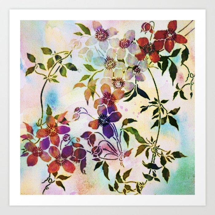 garland of flowers Art Print