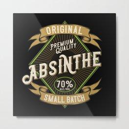 Absinthe - Green Fairy - 04 - dark Metal Print