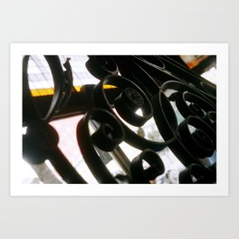ironwork detail Art Print