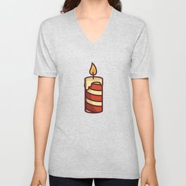 O Holy Night Candle Unisex V-Neck