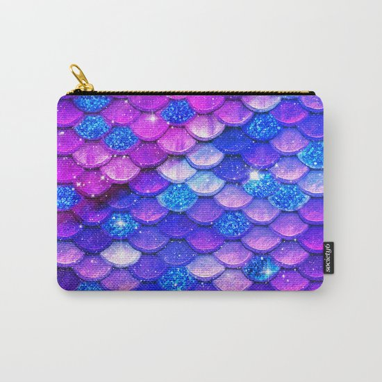 Mermaid Bubblegum Scales Carry-All Pouch