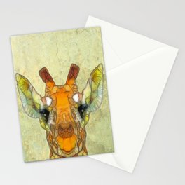 abstract giraffe calf Stationery Cards