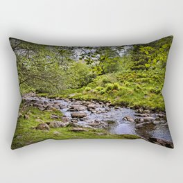 Afon Caerfanell Above Talybont Reservoir Rectangular Pillow