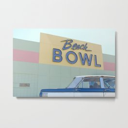Beach Bowl Metal Print