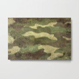 Distressed Camouflage Metal Print