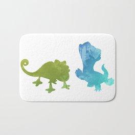 Lizards Inspired Silhouette Bath Mat