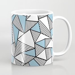 Abstraction Lines Sky Blue Coffee Mug
