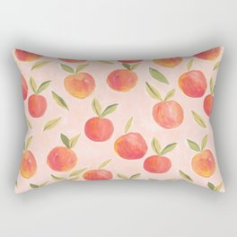 Peaches gouache painting Rectangular Pillow