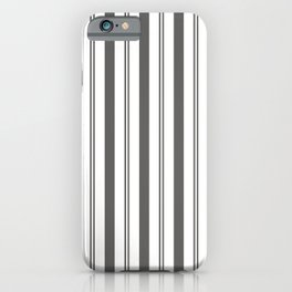 Pantone Pewter Gray & White Wide & Narrow Vertical Lines Stripe Pattern iPhone Case