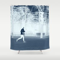 run Shower Curtains featuring run by habish