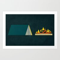 camping Art Prints featuring camping by Shawn Tegtmeier