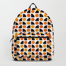 Geometric Pattern 175 (orange spots) Backpack