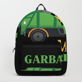 Garbage Day Kids Garbage Truck Trash Recycling Backpack