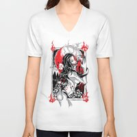 witchcraft V-neck T-shirts featuring Witchcraft by edison zhou