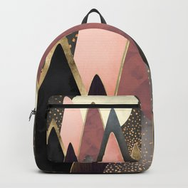 Pink and Gold Peaks Backpack