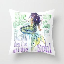 Mermaid : Profound Depths Throw Pillow