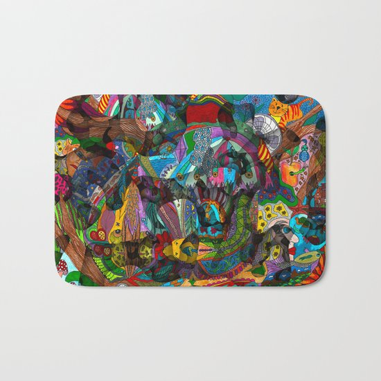 Every thought can change the day when let out in joyful play Bath Mat