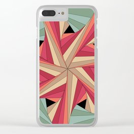 Geometric Mandala / Nothing happens by chance Clear iPhone Case
