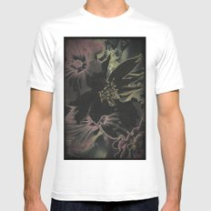 Flower bouquet...Neon White Mens Fitted Tee MEDIUM