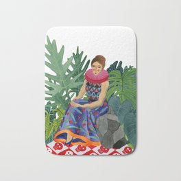Queen of the greenhouse Bath Mat