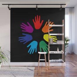 Rainbow hands Wall Mural