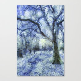 Blue Forest Van Gogh Canvas Print
