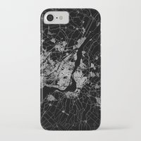montreal iPhone & iPod Cases featuring montreal map by Line Line Lines