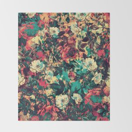 RPE FLORAL V Throw Blanket