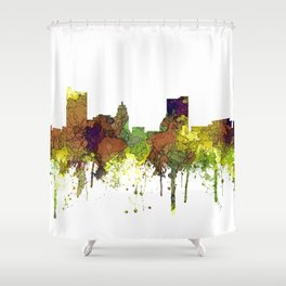 Fort Wayne, Indiana Skyline SG - Safari Buff Shower Curtain