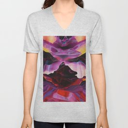 Flora and fauna is vibrant Unisex V-Neck