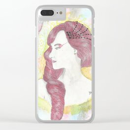 simplicity of a queen-Hera Clear iPhone Case