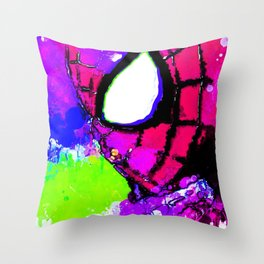 A Spidery Man Throw Pillow