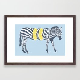 Zesty Zebra Framed Art Print