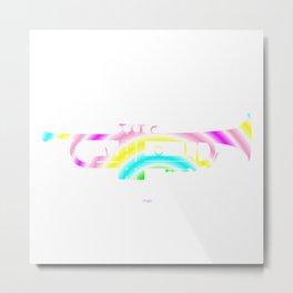 Colorful Trumpet Metal Print