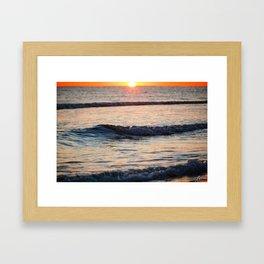 Color of the Waves Framed Art Print
