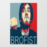 pewdiepie Canvas Prints featuring PewDiePie Brofist. by Brad Josh