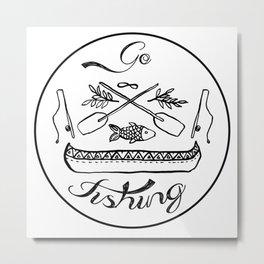 Go Fishing Metal Print
