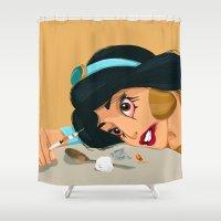 jasmine Shower Curtains featuring Junkie Jasmine by Fransisqo82