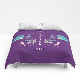 Eat Design Sleep  - Purple Comforters