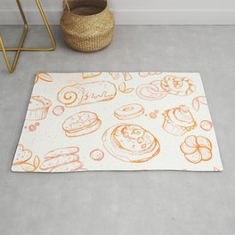 Pastry Bread Pattern Rug